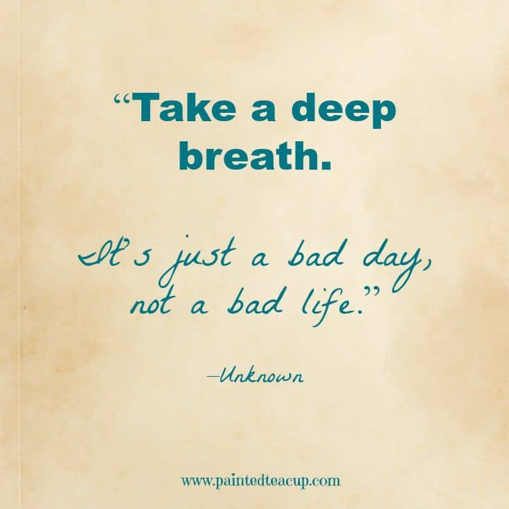 it's a bad day not a bad life quote