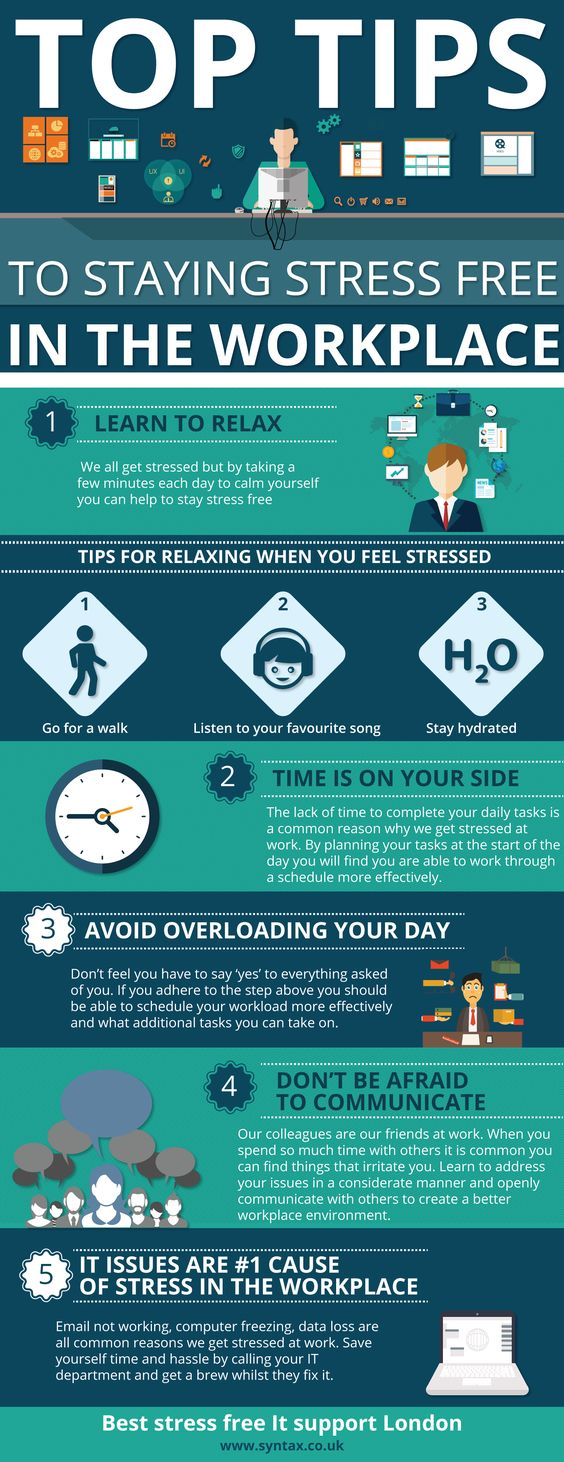 staying stress free in the workplace