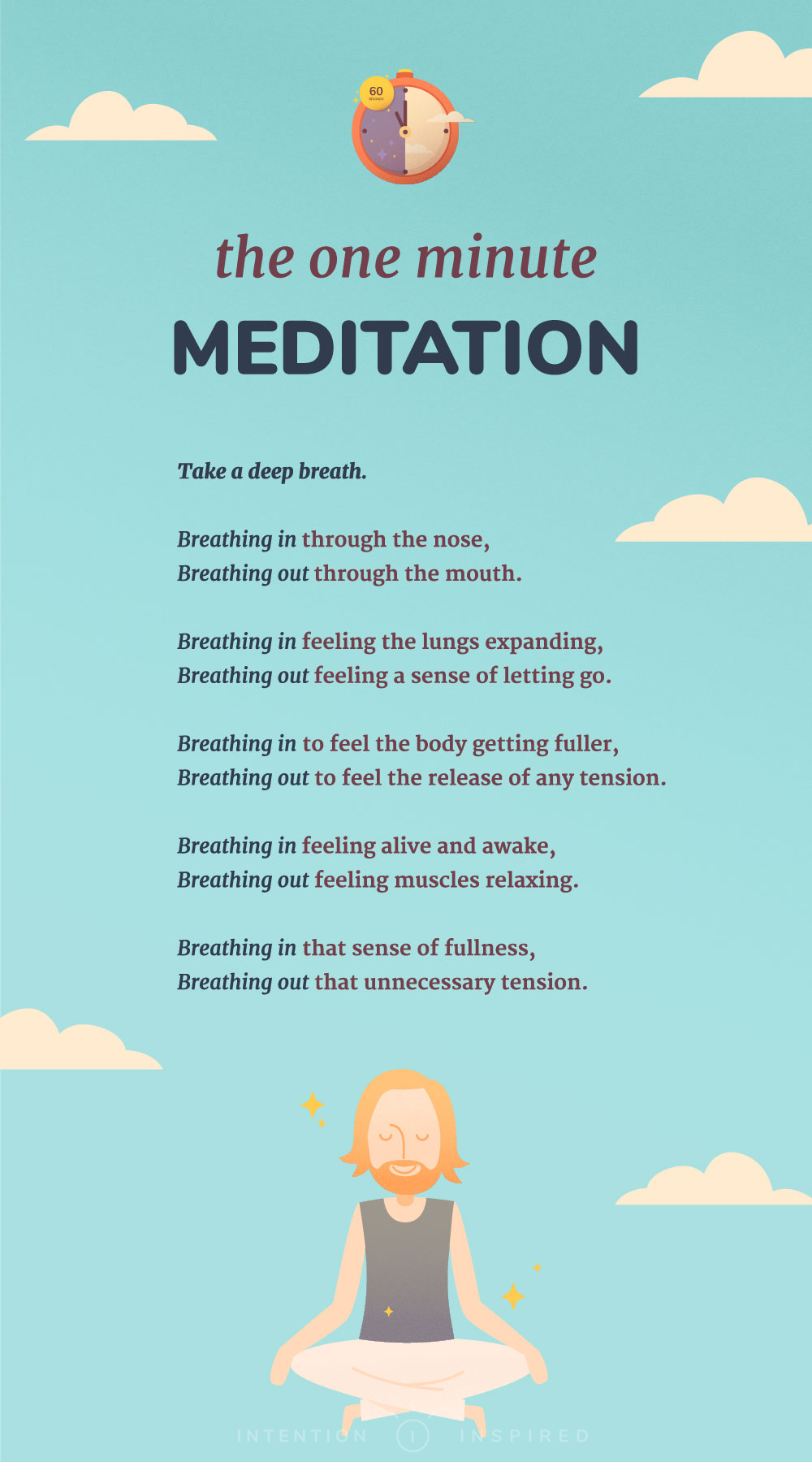 one minute mindfulness exercise