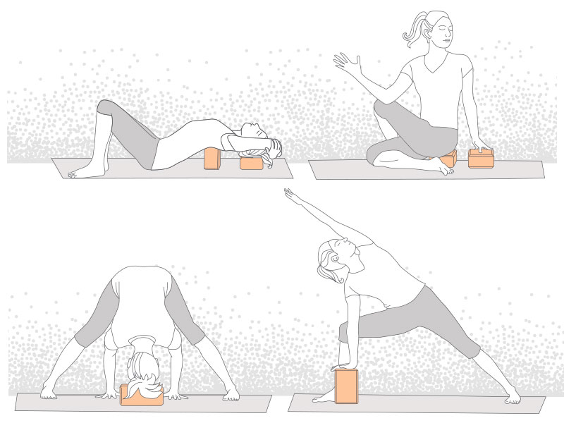 Yoga Block Positions