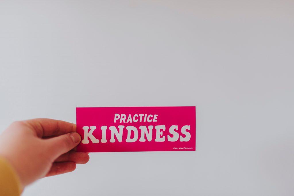 Reiki principles - be kind