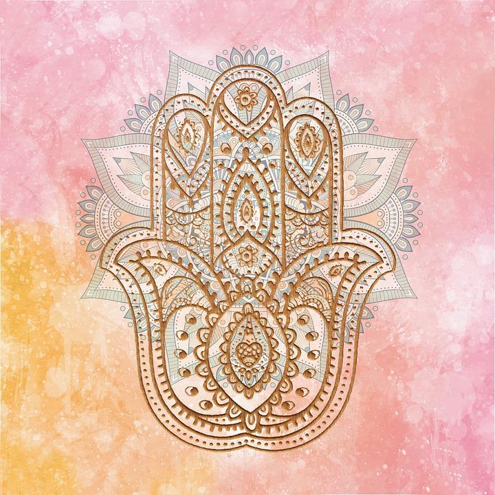 Hamsa meditation symbol