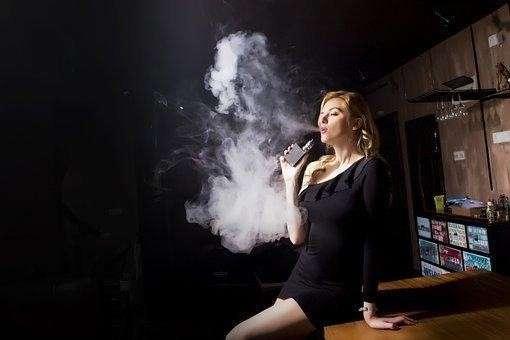 People, Adult, Woman, Smoke, A